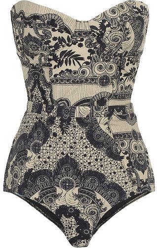 Zimmermann Collision underwired printed swimsuit