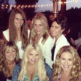 Jessica Simpson and CaCee Cobb hung out with the bride, Kathryn Sykora, and friends during a fun wedding weekend in San Diego in June 2013.  Source: Instagram user asands78