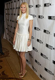 Gwyneth Paltrow wore a white dress.