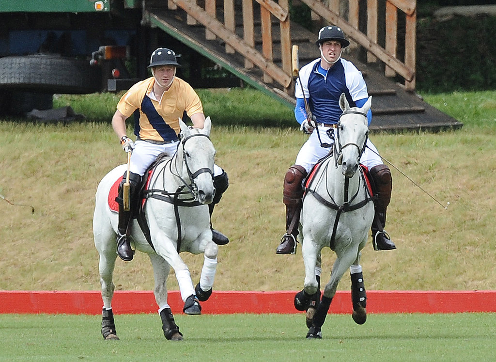Prince Harry and Prince William played on opposite teams.