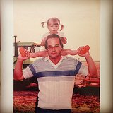 Jaime King showed love for her father by posting this snap of her as a tiny tot. Source: Instagram user jaime_king