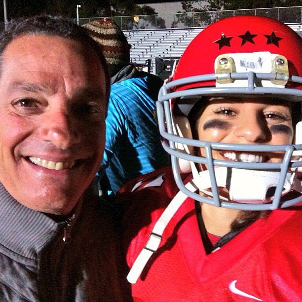 Lea Michele shared a photo of her dad from the Glee set. Source: Instagram user msleamichele