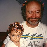 Sarah Hyland celebrated her dad's day by posting this photo of the two of them in curlers. Source: Instagram user therealsarahhyland