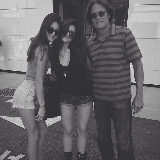 Kendall Jenner posted this photo of herself with Kylie Jenner and dad Bruce Jenner. Source: Instagram user kendalljenner