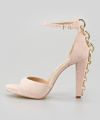 With these Diane von Furstenberg Sofia sandals ($350), it's all about that back chain detail.