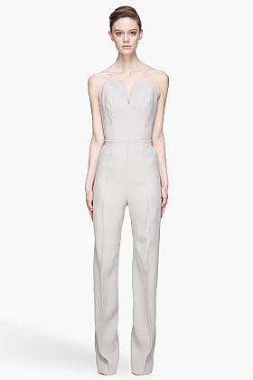 MAISON MARTIN MARGIELA Grey Backless Jumpsuit