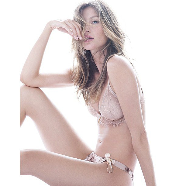 Gisele Bündchen modeled her own lingerie line.  Source: Instagram user giseleofficial