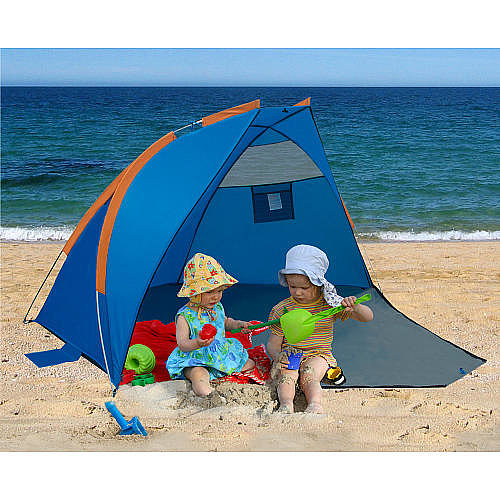 At just $30, Gigatent's Beach Cabana is an excellent value. Zip up the front panel for privacy, or leave it open to create an enlarged play space.