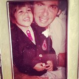 Kourtney Kardashian honored her late father with a vintage picture. Source: Instagram user kourtneykardash