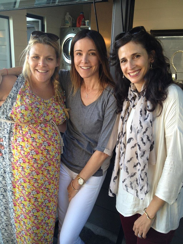 Courteney Cox shared a photo of her friends, including pregnant Busy Philipps, celebrating her birthday.  Source: Twitter user CourteneyCox