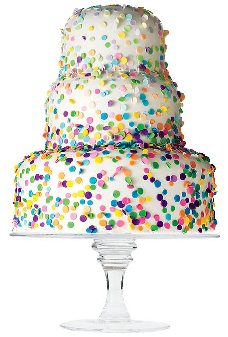 Confetti Cake $20 per person (serves 50), Sylvia Weinstock Cakes Browse more colorful wedding cakes. Related: How to Find the Right Dress For Your Body Type Photo: Spencer Harris