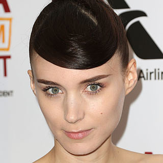 Rooney Mara's Sculpted Bun & Curved Fringe LA Film Festival