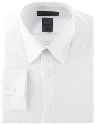 DKNY Dress Shirt, Slim Fit Stretch Solid