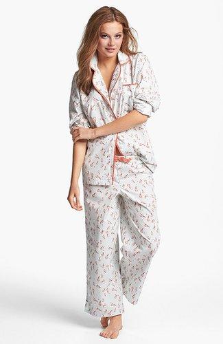Munki Munki Print Poplin Pajamas
