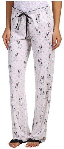 P.J. Salvage - Eye Candy Dog Print Pajama Pant (Ivory) - Apparel