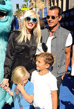 Gwen Stefani and Gavin Rossdale were all smiles as they took their kids to the premiere of Monsters University in LA in June 2013.