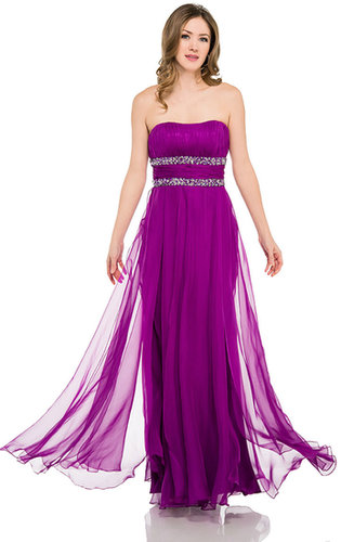 Im-16047, Strapless Long Formal  Dress with Beaded Waist-Satin-Boutique.com