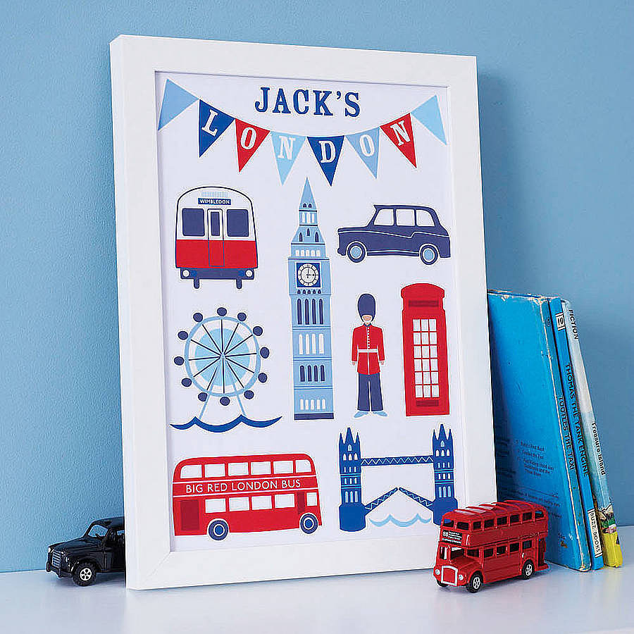 Sweet Home London's personalized London prints ($19) make a fun and modern addition to a little one's nursery.