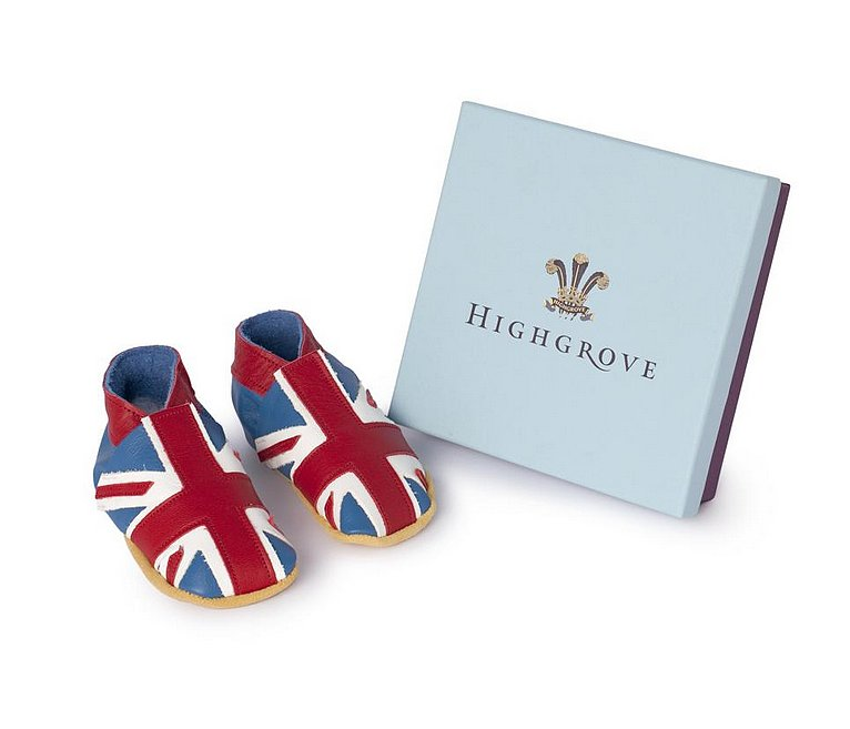 Even Prince Charles is getting in on the royal baby fever, as the shop on his Highgrove country estate is selling handmade Union Flag Baby Shoes ($35) for non- and early walkers.