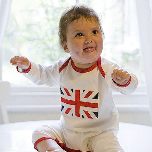 This Union Jack Baby Jumpsuit ($13) is a sweet way to bring a little British heritage to an infant's wardrobe.