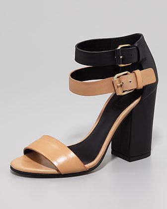 Vince Lana Colorblock Double-Buckle Sandal