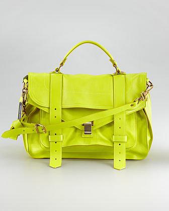 Proenza Schouler PS1 Lambskin Mailbag, Medium
