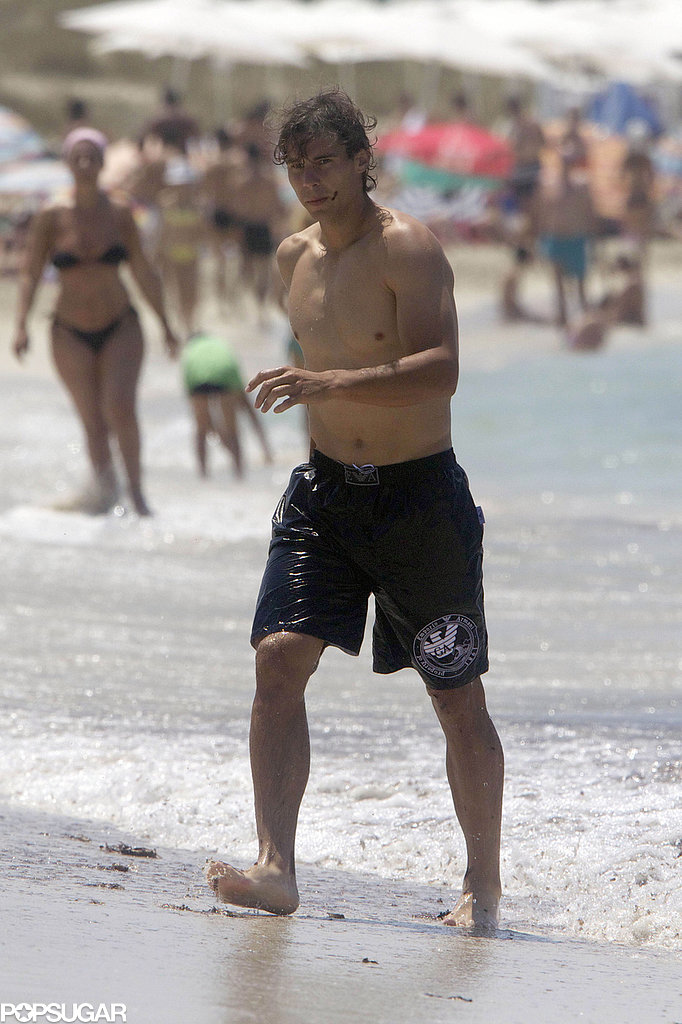 Rafael Nadal hit the waves during a July 2011 trip to Spain.
