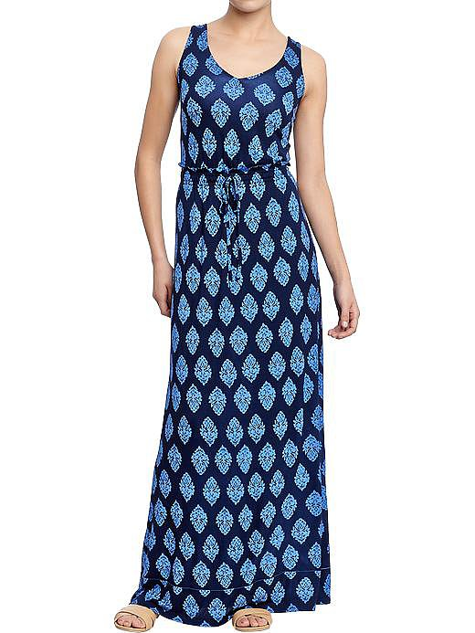 Keep your maxi's print professional and it'll look ready for the office rather than just the mall or weekend brunch. We love the blue-on-blue look of this Old Navy steal ($30).