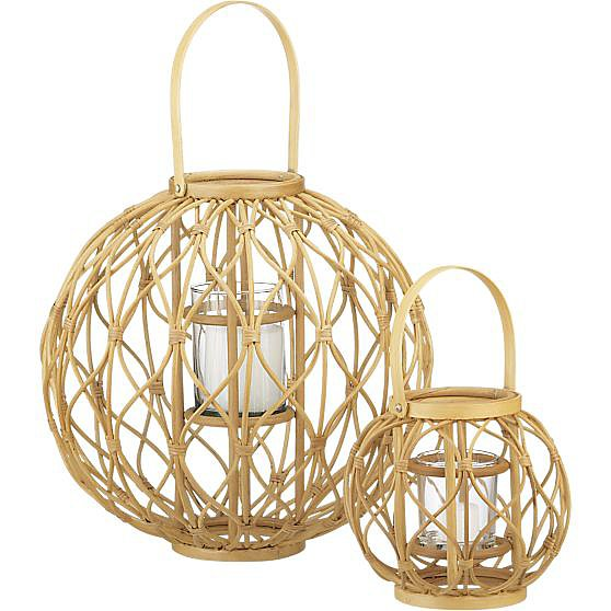 If rigging up an extension cord to hang pendant lighting from trees sounds daunting, then go for simple lantern versions like these Careen Lanterns ($20-$40, originally $25-$60).