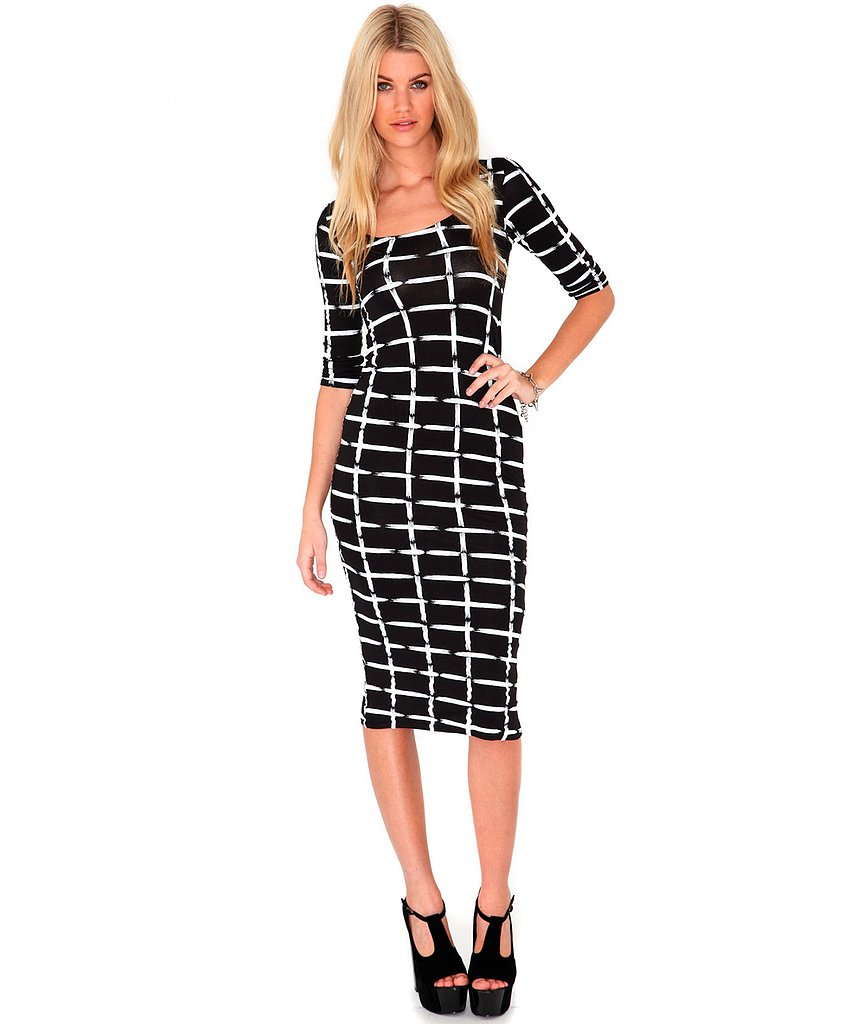 Ever so blurred, the check print of this Missguided dress ($25) is on trend yet still ready for a meeting with the boss.