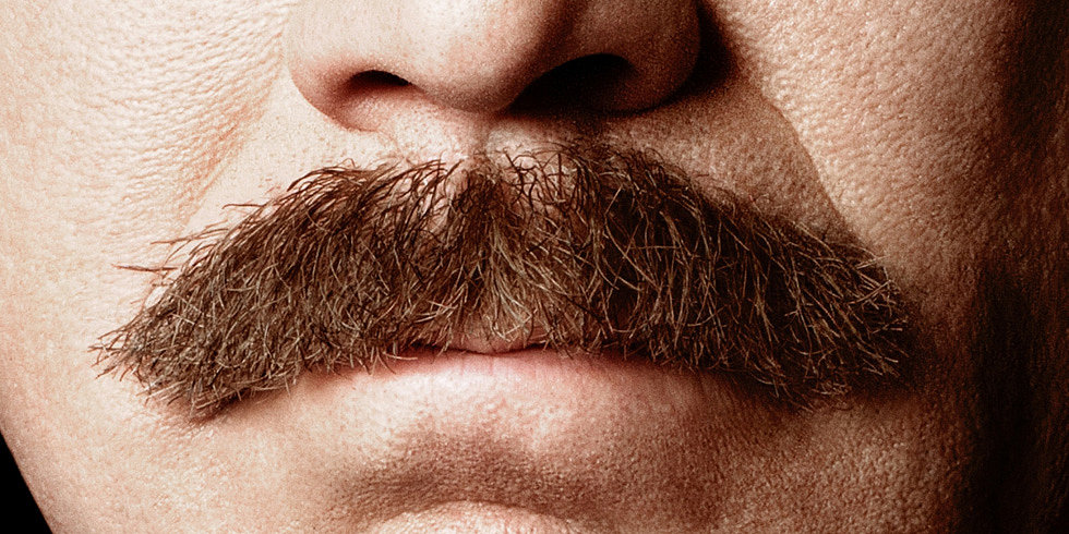 Ron Burgundy's Mustache Is Front and Center in the Anchorman 2 Poster