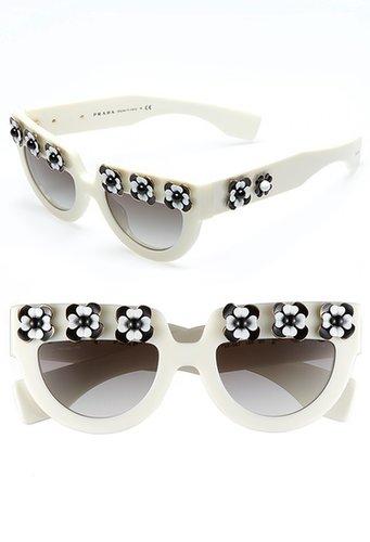 Prada 'Irregular Flowers' 50mm Sunglasses