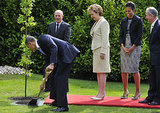 In May 2011, President Obama helped to plant a tree at Irish President Mary McAleese's residence in Dublin.