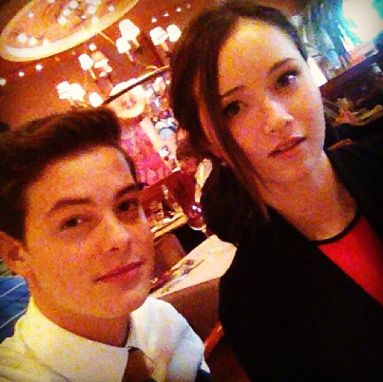 Israel Broussard and his costar Katie Chang met up for dinner.  Source: Instagram user israelbroussard