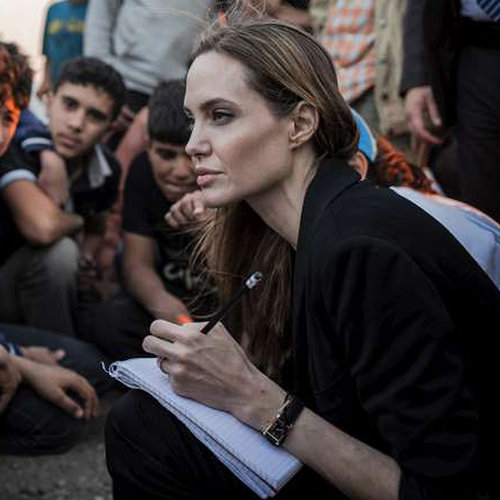 Angelina Jolie at the Syrian Border | Photos