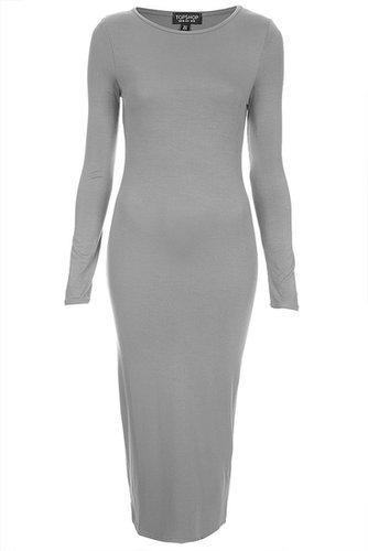 Silver Midi Bodycon Dress