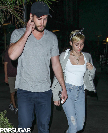 Miley Cyrus and Liam Hemsworth had a date night in LA.