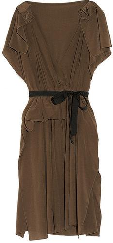 Vionnet Draped silk crepe de chine dress