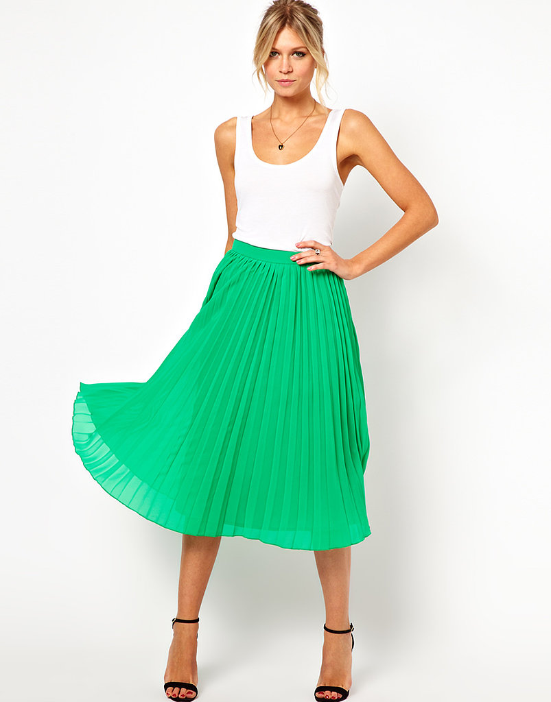 Breezy and easy, ASOS's pleated midiskirt ($48) will look perfect with a collared blouse on even the stickiest Summer days.