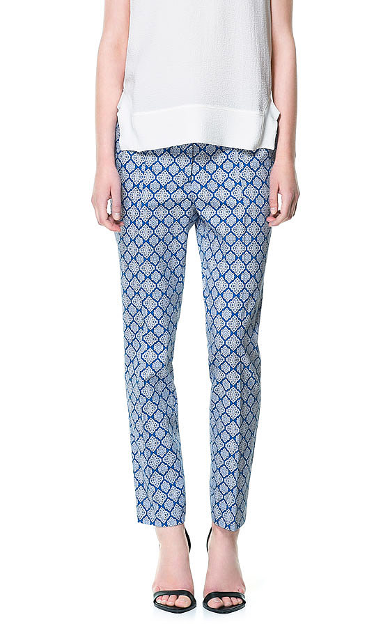 The comfort factor of the slouchy trouser isn't the only thing that has our brains thinking pajama — trendy prints like Zara's elaborate diamonds ($60) also reference classic loungewear.