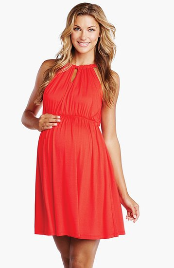 Maternal America Halter Maternity Dress