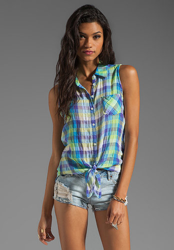 C&C California Tie Front Sleeveless Shirt