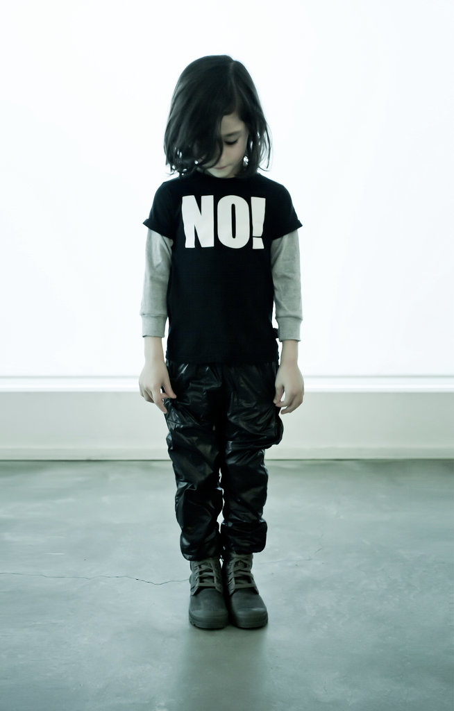 No! T-shirt and Nylon Pants