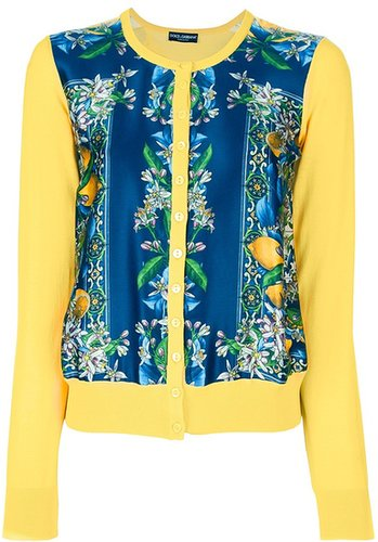 Dolce & Gabbana two-tone printed cardigan