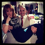 Kathy Griffin got a little carried away with Pitbull. Source: Instagram user kathygriffin