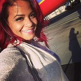 Christina Milian headed to Las Vegas for the finale of The Voice. Source: Instagram user christinamilian