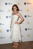 Amy Adams paired a white strapless lace dress with orange Rupert Sanderson pumps at the Taormina Filmfest in Italy.