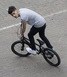 Zayn Malik played around on a bike in Brussels back in May.