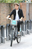 Louis Tomlinson hit up London's bike-share program for an August 2012 ride.