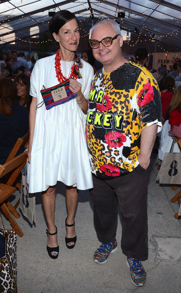 Cynthia Rowley and Mickey Boardman at the FEED USA and Target launch event in Brooklyn.